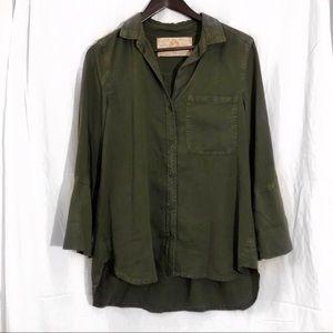 Bella Dahl Green Button Down Shirt (A2)